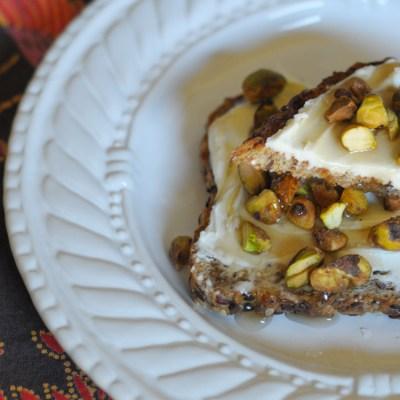 Maple Mascarpone Pistachio Toast