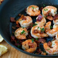 Lemon Bacon Shrimp Scampi