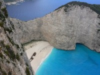 Navagio on Zakynthos photo courtesy of Heather Cowper