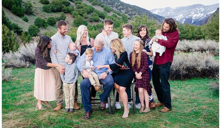 Green Canyon Extended family Photos- Spring