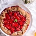 Healthy Strawberry Galette - plant based, gluten free, refined sugar free, vegan - heavenlynnhealthy.com