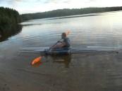 Mark Hebel paddling clear kayak