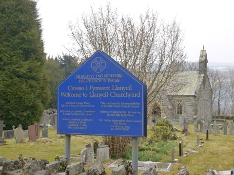 Llanycil church entrance