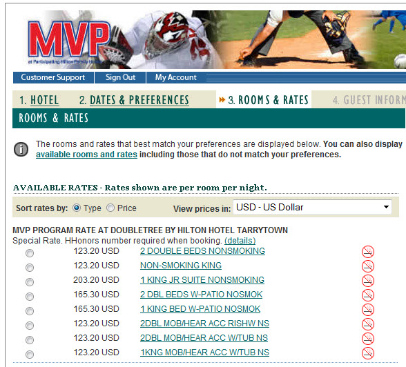 mvp search page hilton hhonors