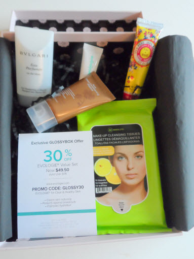 July Glossybox le Grand Bleu contents