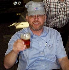 Heiner Berg with beer