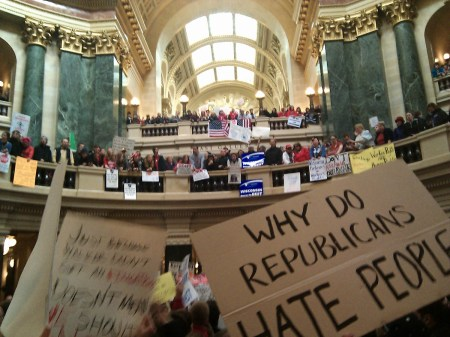 In the middle of the capitol's rotunda