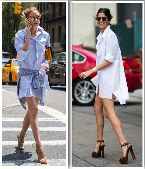 olivia palermo man repeller street style shirt dress