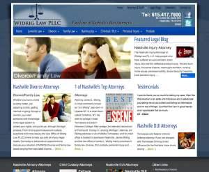 widrig law firm web design