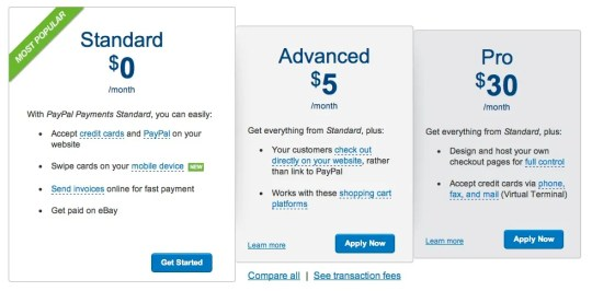 PayPal Payments pro cmparison 634x312 PayPal Payments Pro vs PayPal Payments Advanced for WPEC