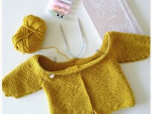 <span>Tricot Layette</span> Le manteau ourson en cours