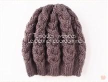 <span>Tricot</span> Des torsades dans tous les sens pour le bonnet coordonné