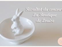 <span>Concours La Boutique de Louise:</span> Le résultat !