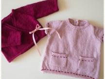 <span>Tricot layette</span> La petite robe pour Valentine