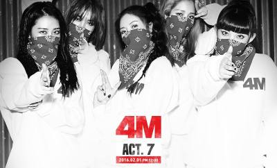 4Minute looking tough in Act.7 teasers!   Image Credit: 4Minute's Facebook page
