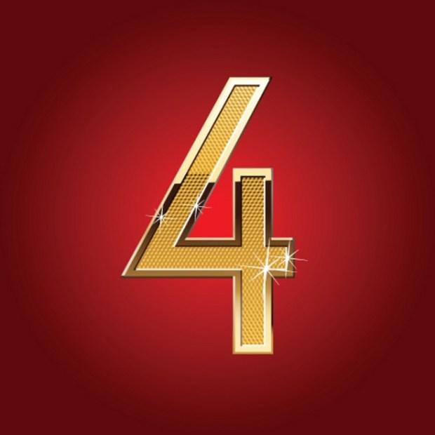 Golden font number 4
