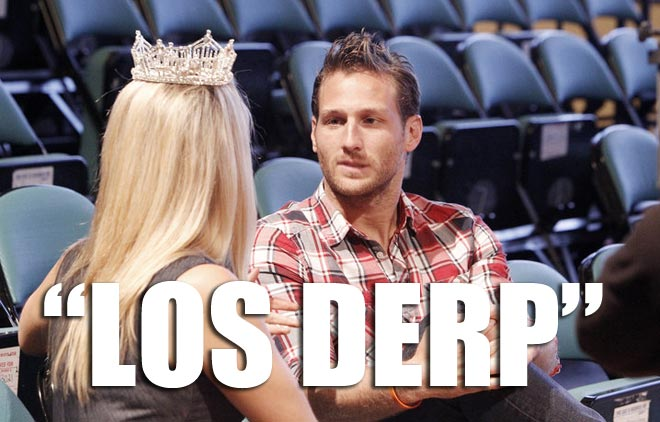 Juan Pablo practices his interview skills for the Mr. america pageant on the bachelorette.