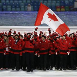 Team Canada at Sochi Olympics Opening Ceremony 1