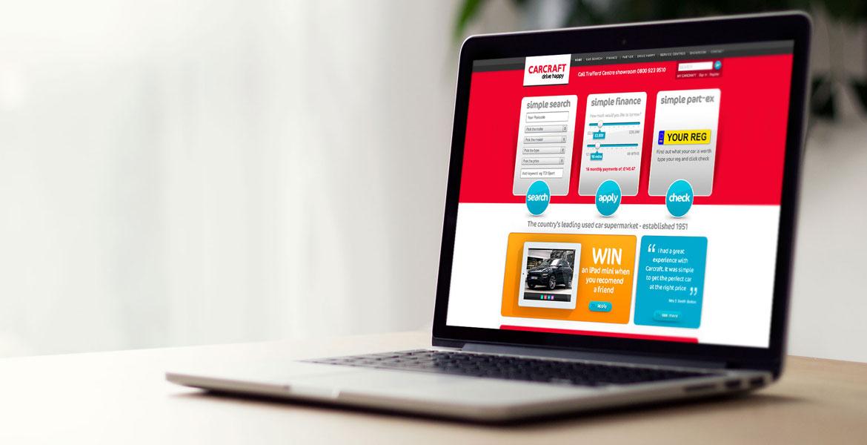 Carcraft Website design and build. website creation