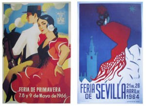 Poster from 1966 by José Álvarez Gámez, and from 1964 by Antonio Abelardo Garciá Fdez