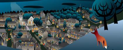 The village Nibe as a desktop wallpaper