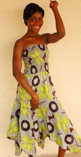 Leuke jurk gemaakt door onze leerlingen