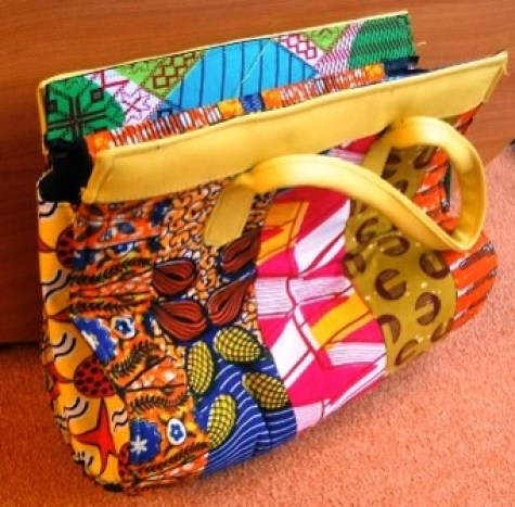 Unique colorfull handbag made by our students