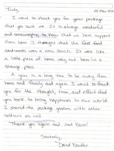HOME - Help Our Military Endure: Letters from Our Soldiers