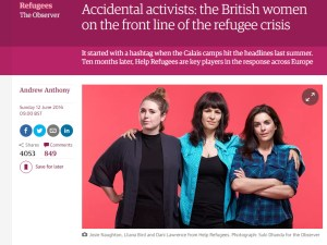 The Observer – 'Accidental activists: the British women on the front line of the refugee crisis'