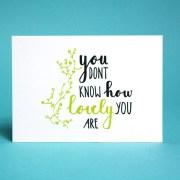 lovely hemelsblauw postcard