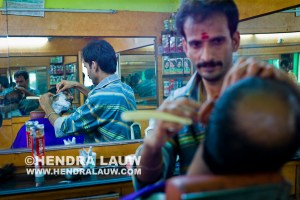 Inside a Barber Shop in Bangalore