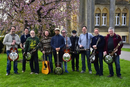 The resonator guitar class at 32.Musique Acoustique Workshop, Virton, BE