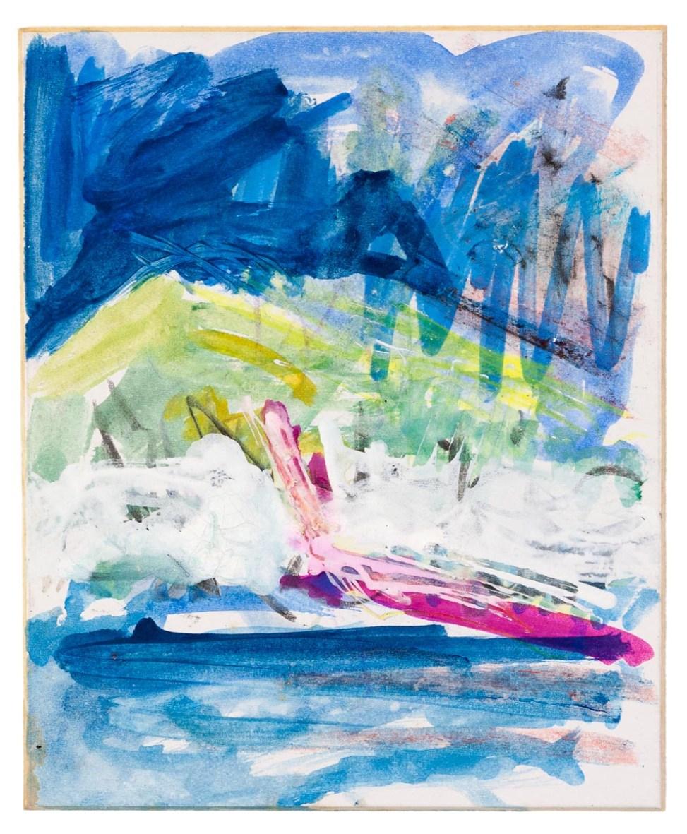 Arran Study No. 1Watercolour, ink, graphite on card.