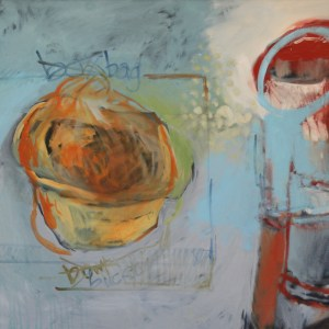 Box Bag Bowl BucketOil on canvas. 150cm x 90cm.