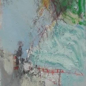 Take A Boat To EnglandOil and mixed media on canvas. 25cm x 36cm