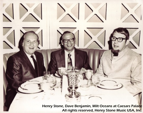 Henry Stone, Dave Benjamin, and Milt Oshins at Ceasars Palace
