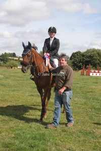 Winner British Novice - Sarah Bowen riding Caravic