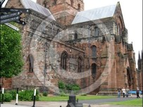 Carlisle Cathedral now and as it was in 1540