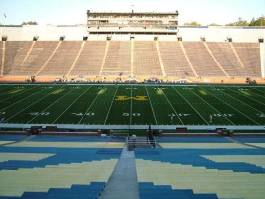 Never did I think a picture I took of an empty Big House while a student manager would ever be so appropriate.