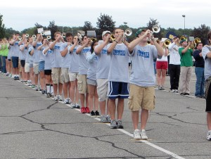 Trumpets practice