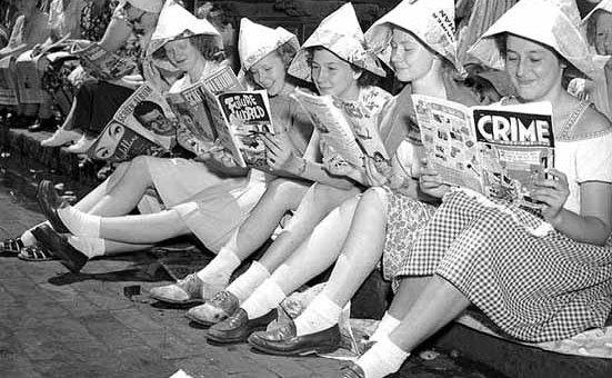 Girls Reading Comics