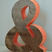 Rustic Ampersand 'and' symbol