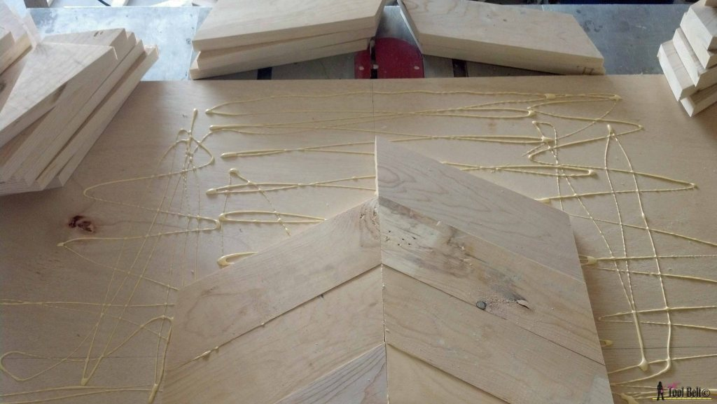 7 drawer dresser-glue chevron