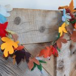 Fall leaf Garland draped