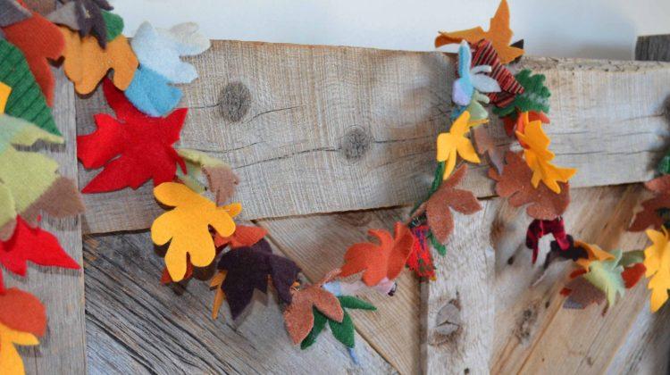 Fall leaf Garland draped