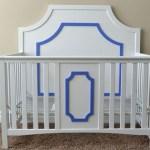 DIY glamorous crib feature