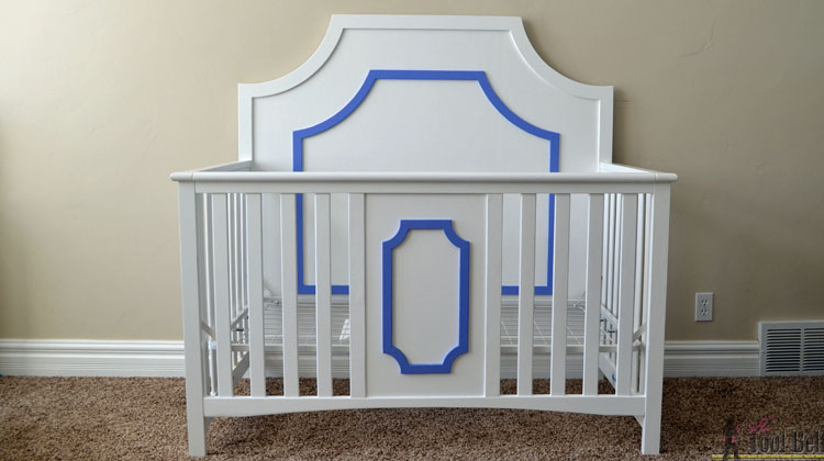 DIY glamorous crib feature
