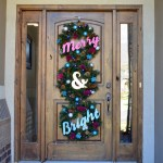 merry and bright christmas wreath trio feature