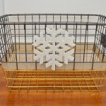 wire basket style feature