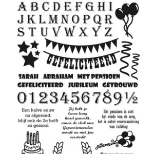 YCCS10009 - Text Stamp -  Yvonne Creations - Celebrations.indd
